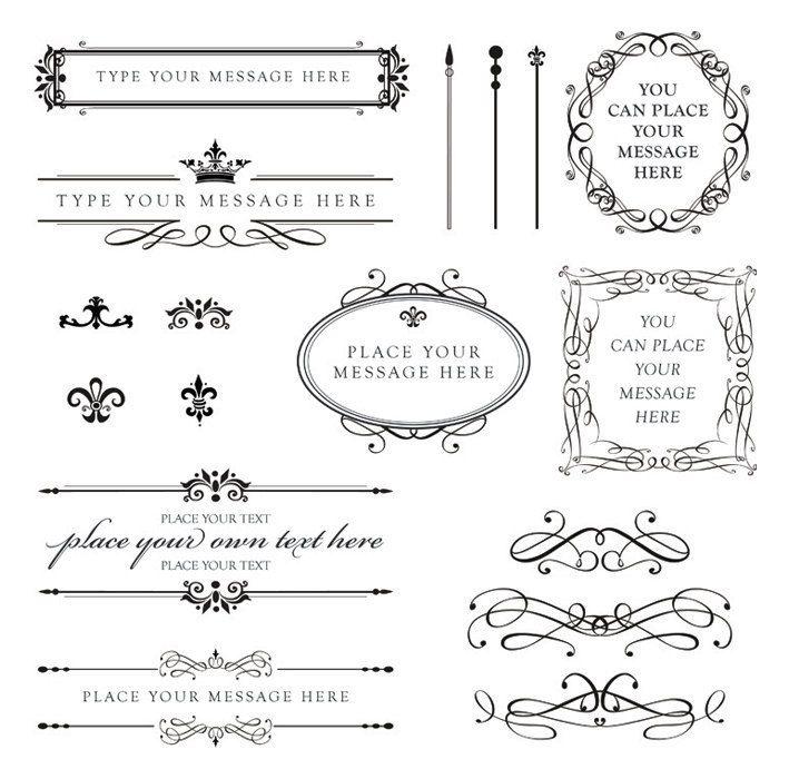 Calligraphy clipart wedding invitation Scroll Pinterest Business 10140 Work