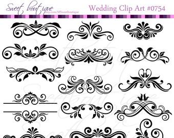 Calligraphy clipart wedding invitation Digital Clipart Calligraphy Wedding clipart