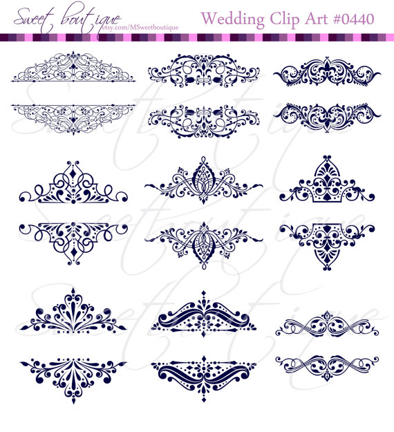 Calligraphy clipart wedding invitation Vintage Designs Clip DIY Wedding