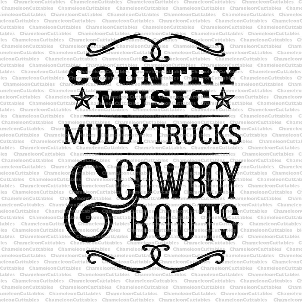 Calligraphy clipart western Cowboy boots muddy clip trucks