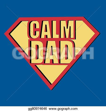Calm clipart dad T dad t Vector Illustration