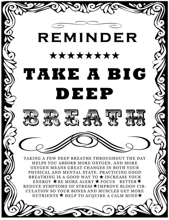 Calm clipart deep breath BIG Taking deep moments Reminder: