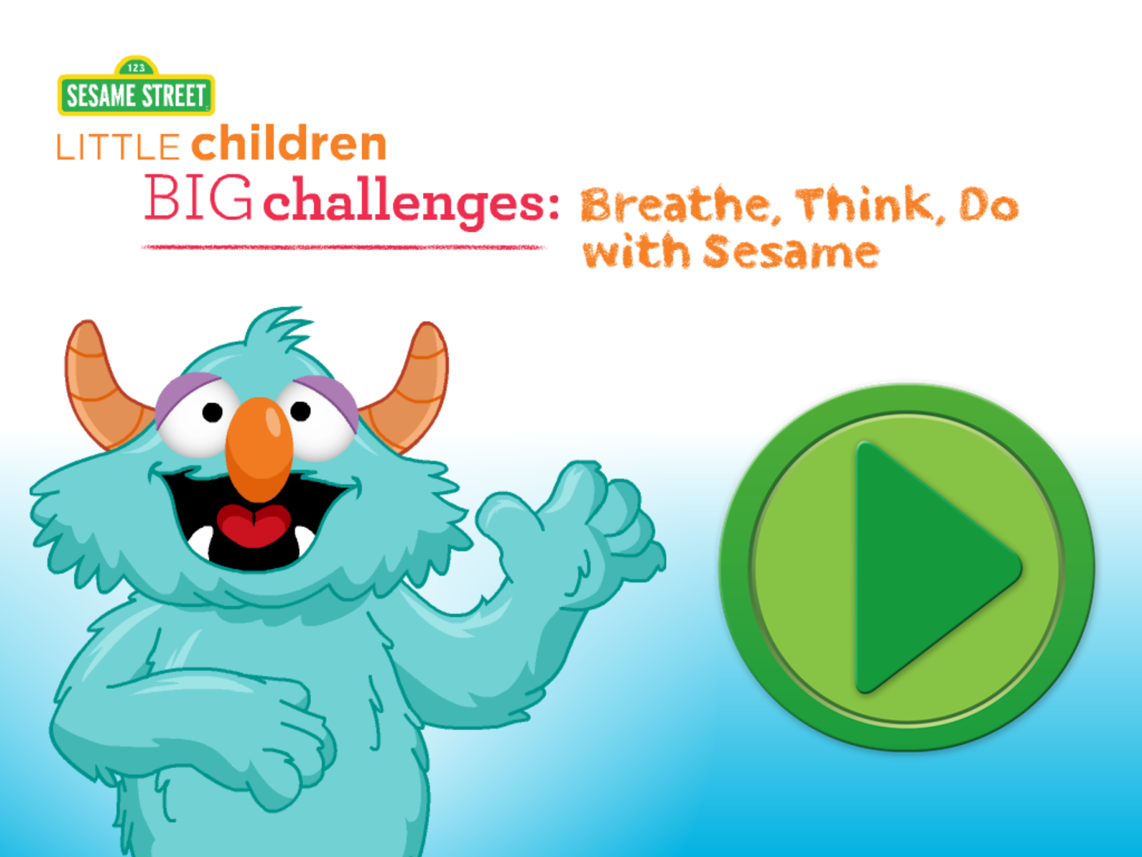"Calm clipart happy child Think  Self ""Sesame Breathe"