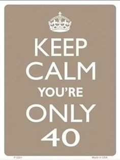 Calm clipart happy guy Calm Happy 40 your 40th