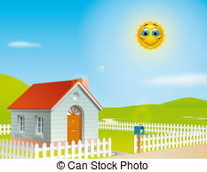 Outside clipart sunny day Sunny  sunny Stock and