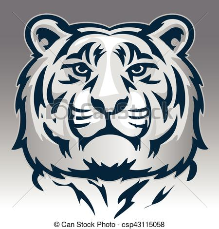 Tiger Print clipart bruin Vector tiger face and Clipart