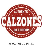 Calzone clipart vector Stamp  with Calzones dust