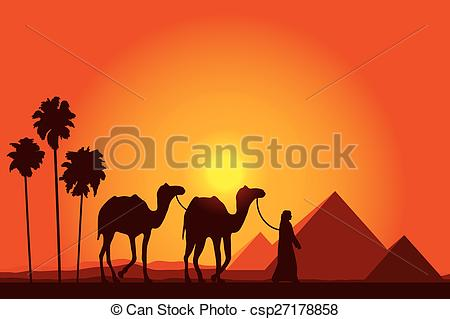 Camel Caravan clipart On Camel Egypt of with
