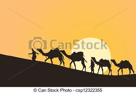 Camel Caravan clipart camel riding Desert Clipart with desert Caravan