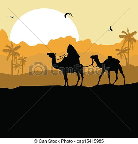 Camel Caravan clipart camel riding Desert caravan Camel and