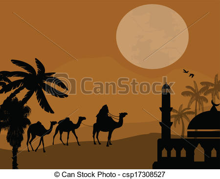 Camel Caravan clipart camel riding Vector of in  Bedouin