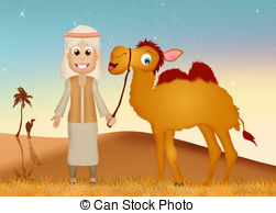 Camel clipart arab man Camel and an of Arab