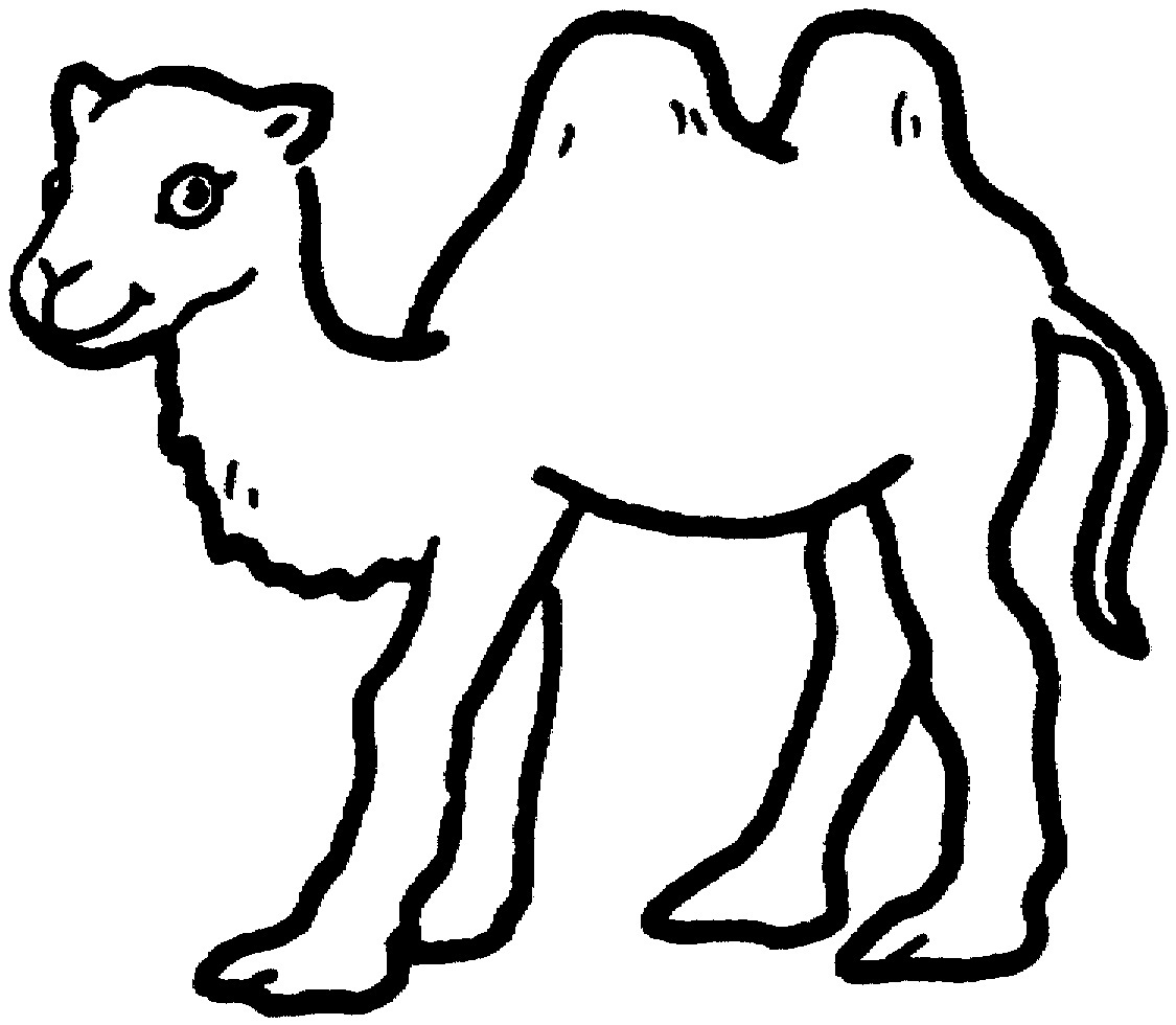 Camel clipart coloring book Printable Coloring Camel Pages Coloring
