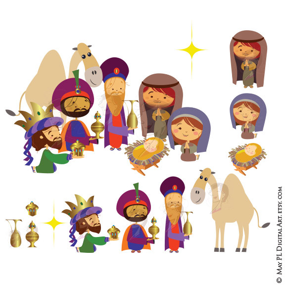 Camel clipart manger Clip #78 Baby jesus Clipart
