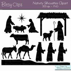 Camel clipart manger Clipart Christmas Silhouettes Art Clipart