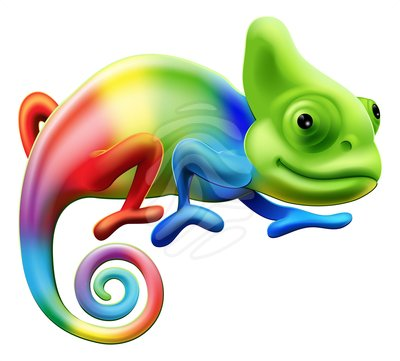 Cameleon clipart #1