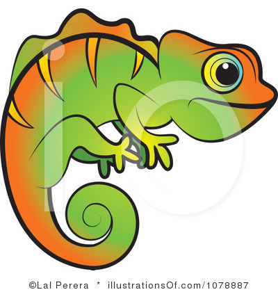Cameleon clipart #10