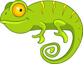 Cameleon clipart #9