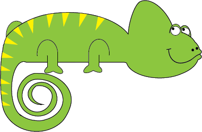 Cameleon clipart #11