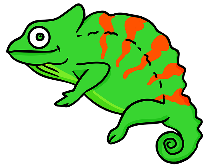 Cameleon clipart #2