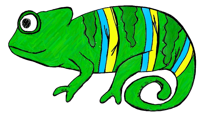 Cameleon clipart #6