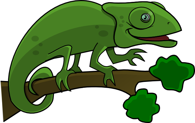 Cameleon clipart #7