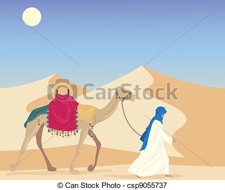 Camel clipart arab man Leading man Clip Camel Art