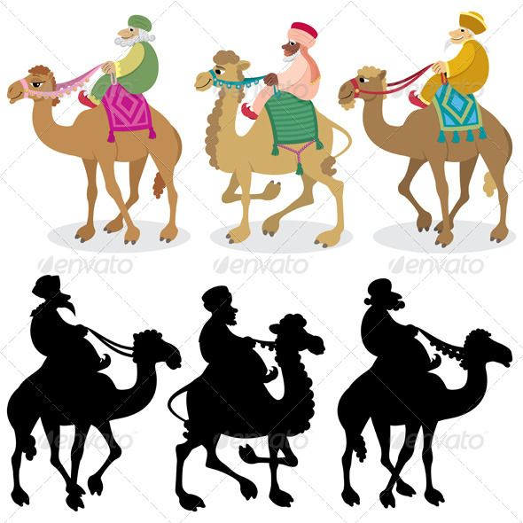 Camel Caravan clipart camel riding White best on Bethlehem Three