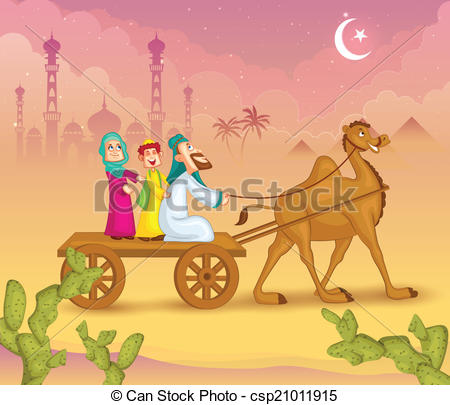 Cart clipart food shop On of ride Eid Clip