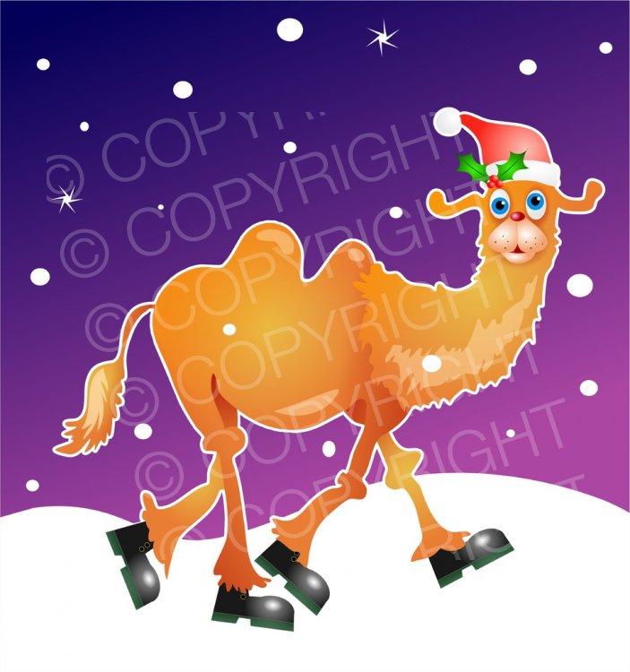 Camel clipart christmas Clip Winter Prawny – Christmas