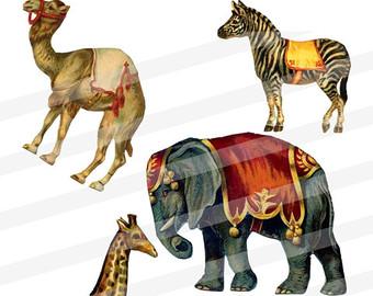 Camel clipart circus elephant Camel Collage Giraffe Horse Sheet