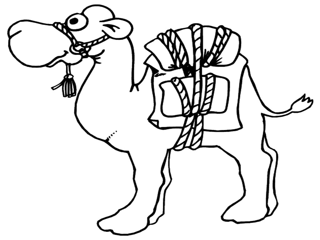 Camel clipart coloring Coloring Printable Coloring Camel Pages