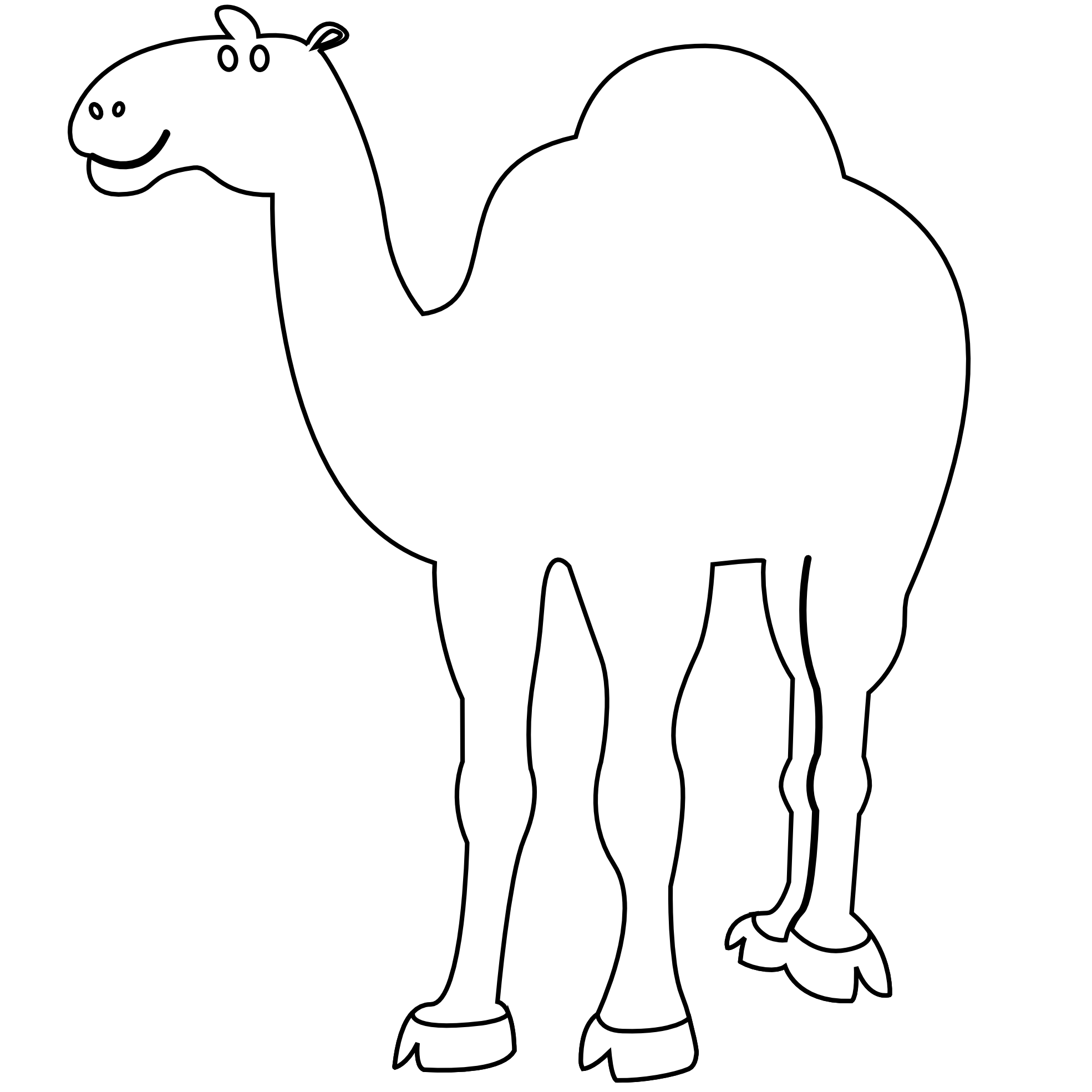 Camel clipart coloring Xmas Colorful Camel White
