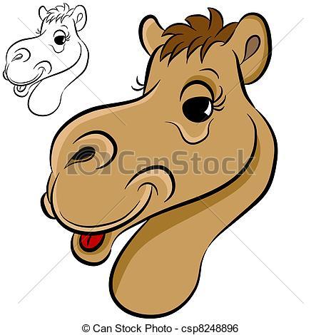 Camel clipart camel head Of Clip Face An Vector