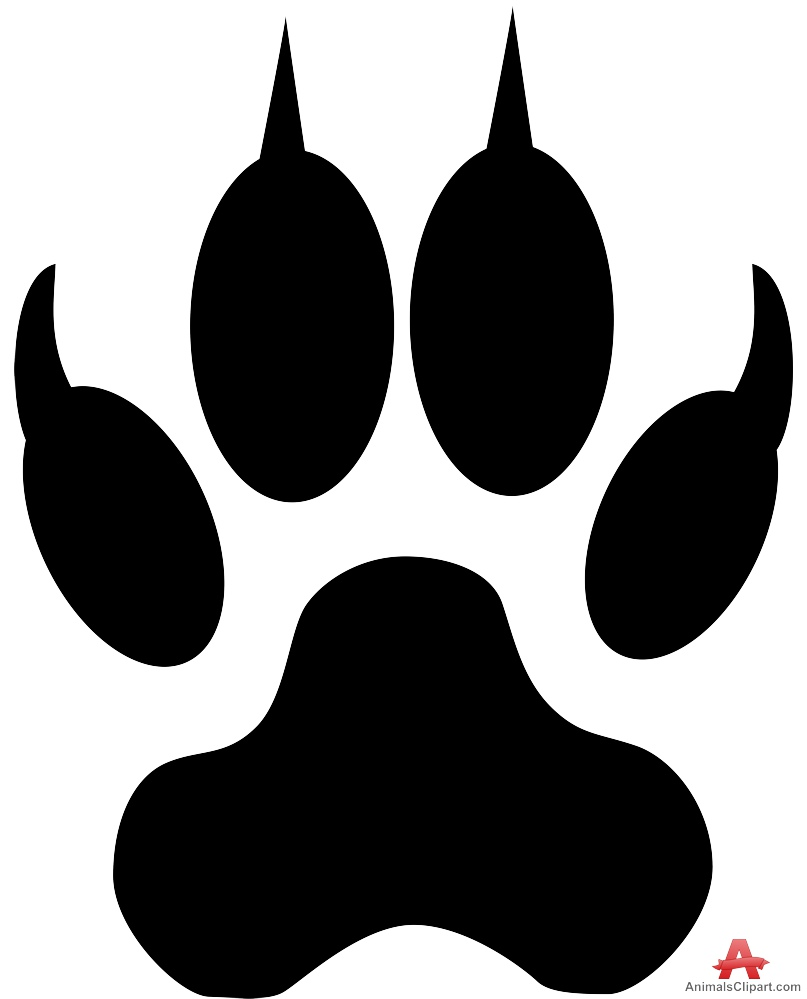Wolf clipart dog tracks Footprint Download Free Track Clipart