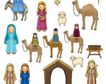 Figurine clipart nativity Nativity Etsy Download Clipart Christmas