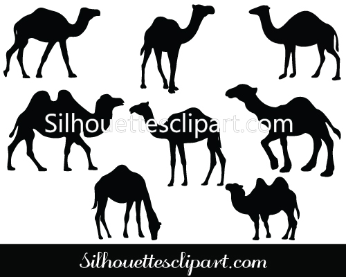 Camels clipart vector Pack Vector Camel Vectors Silhouette