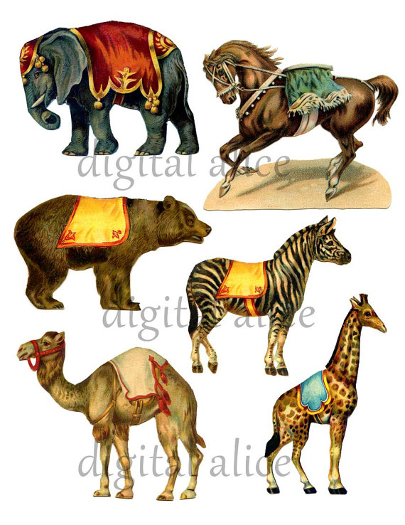 Carneval clipart circus animal CLIP Digital Carnival from ANIMALS