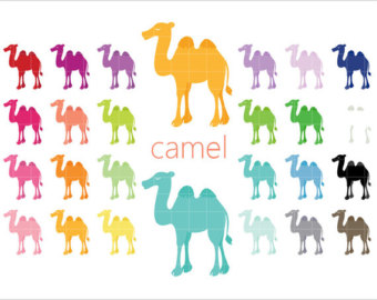 Camels clipart wild animal 24 Clip Color Wild Etsy
