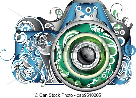 Drawn camera abstract #12