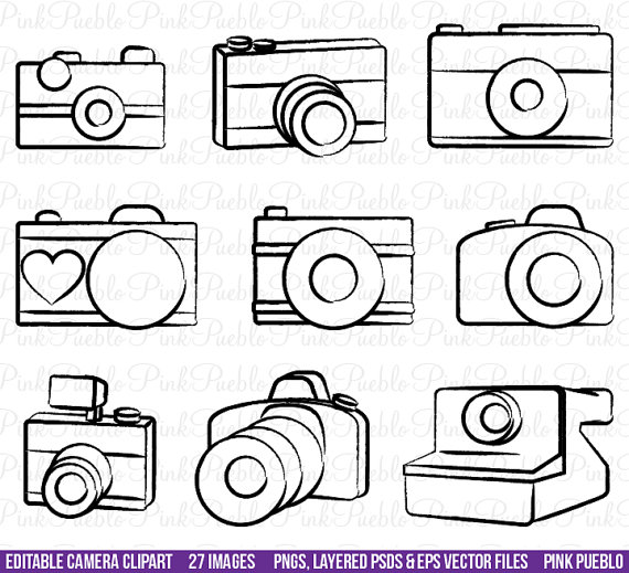 Photography clipart vector art Clipart Clipart $8 by Layered