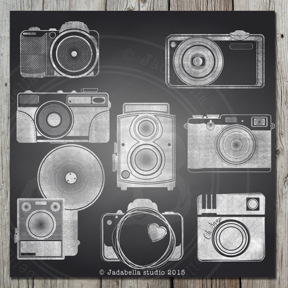 Camera clipart chalkboard Clipart background Instant download Camera