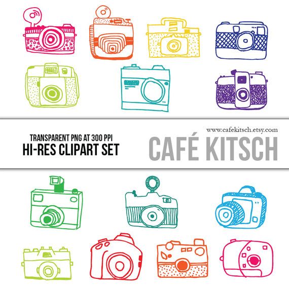 Photography clipart vintage camera Printable Hi Clipart INSTANT DOWNLOAD