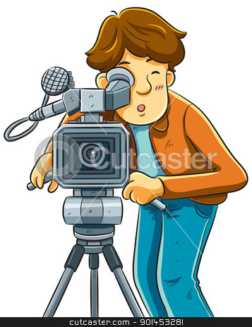 Photography clipart film shooting camera Cameraman Camera Shoot Movie stock