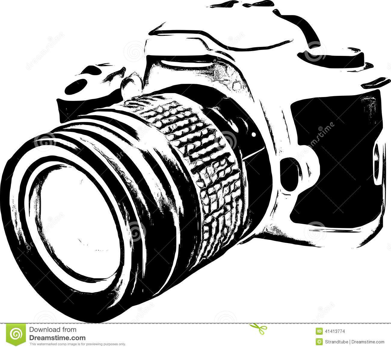 Dslr clipart black and white Camera camera white white Clipart