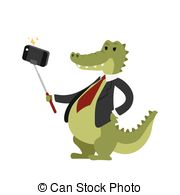 Camera clipart funny Vector person animal crocodile picture