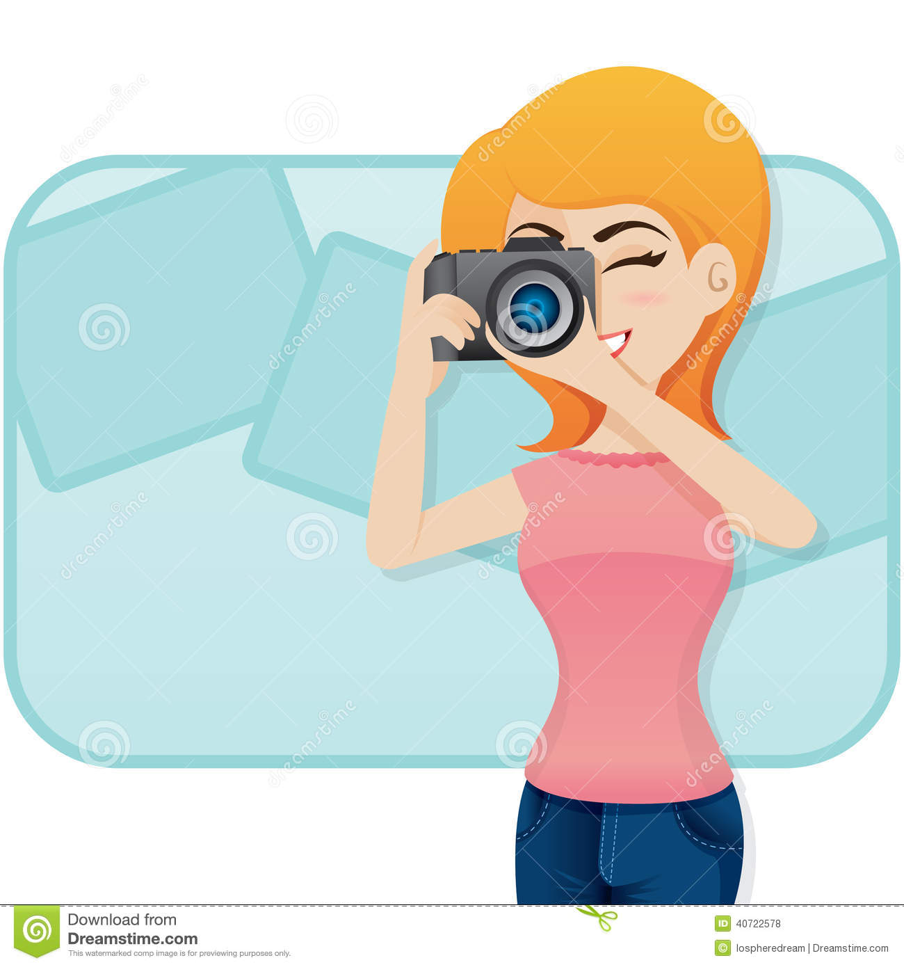 Photography clipart woman photographer Camera Cartoon Girly with Cute