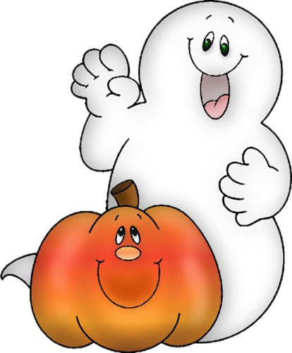 Ghostly clipart fall #4