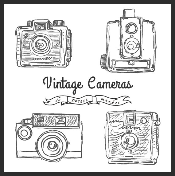 Photography clipart vintage camera Illustration Drawn Camera Cute