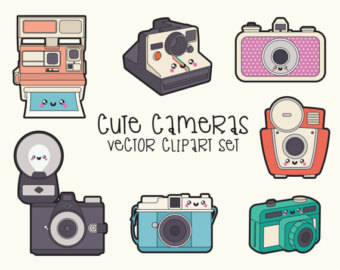 Camera clipart pastel Cameras Cute Kawaii Etsy Quality
